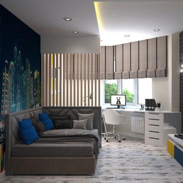 Авторские проекты интерьеров подростковых комнат - портфолио.