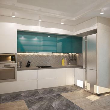 Дизайн-проект интерьера кухни: фото 2017 года.