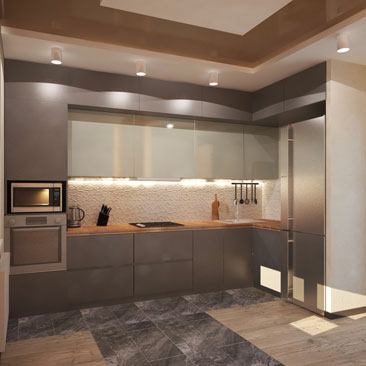 Кухня в шоколадно-коричневых, свежие фото.