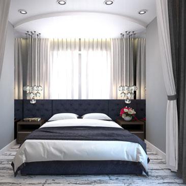 Спальня-гостиная-кухня-холл , интерьерные решения, фото, идеи 2017.