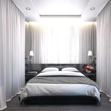 Интерьеры спальных комнат - фото 2017 года.