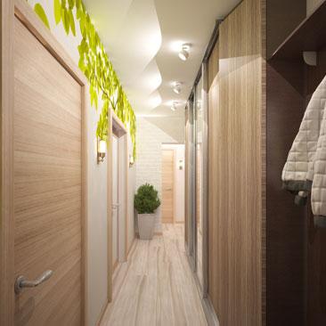 Дизайн коридоров в квартирах - фото 2017 года.