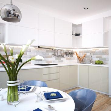 Новые интерьеры кухни в квартирах 2017 - фотографии.