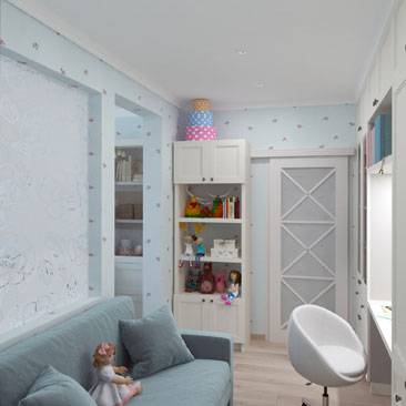 Новые интерьеры детских в квартирах 2017 - фото.