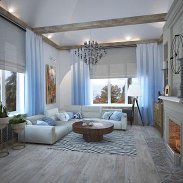 Дизайн интерьера гостиной в коттедже в 2017 году (фото и идеи).