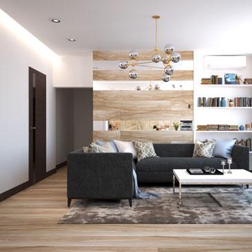 Новые работы дизайнеров - новые интерьеры гостиной.