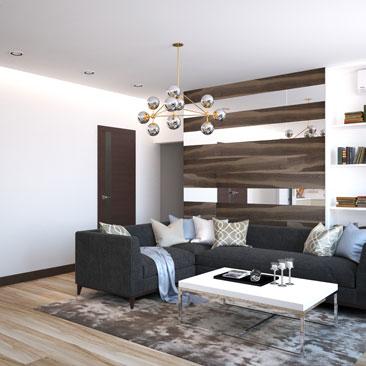 Дизайн квартир. Проекты гостиных комнат.