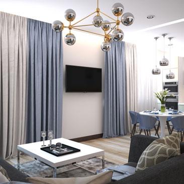 Дизайн квартир. Дизайн-проекты от профессиональных дизайнеров.