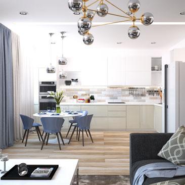 Дизайн квартир с фото.