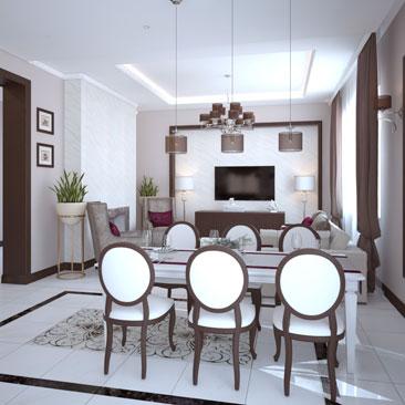 Дизайн кухни в коттедже: классика, идеи для больших кухонь.