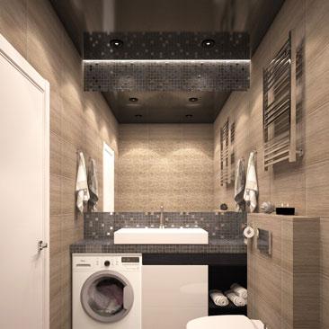 Черный потолок в ванной комнате - фото, идеи.