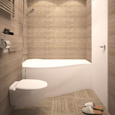 Черный потолок в ванной комнате - примеры на фото.