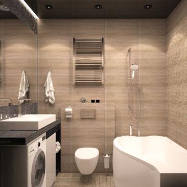 Черный потолок в ванной фото.