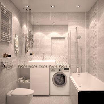 Ванная комната в сером цвете фото.