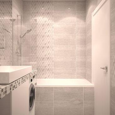 Серые ванные комнаты - фото, дизайн, интерьеры.