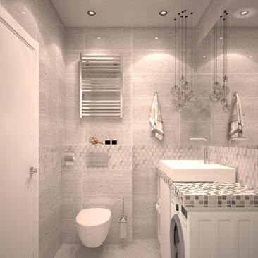Серая ванная комната фото.