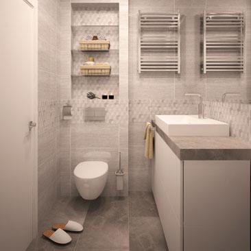 Серая ванная комната дизайн фото.