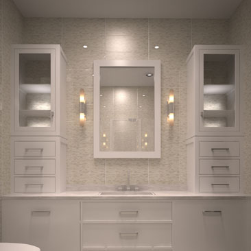 Бежевые ванные комнаты - фотоподборка дизайна.