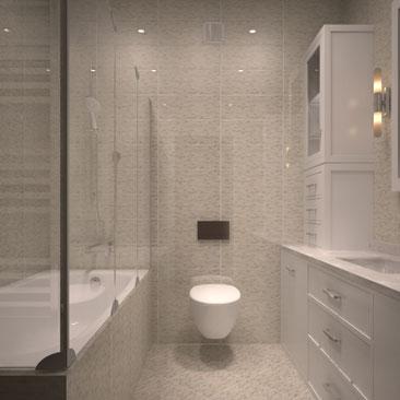 Бежевая ванная комната дизайн фото.
