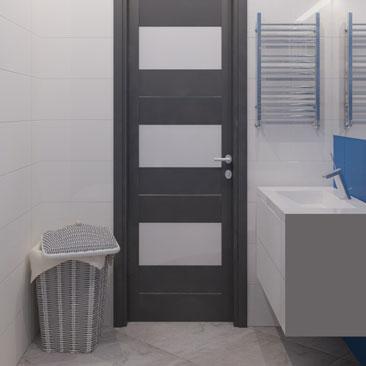 Синяя ванная комната фото.