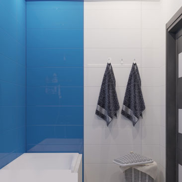 Ванная голубого цвета фото.