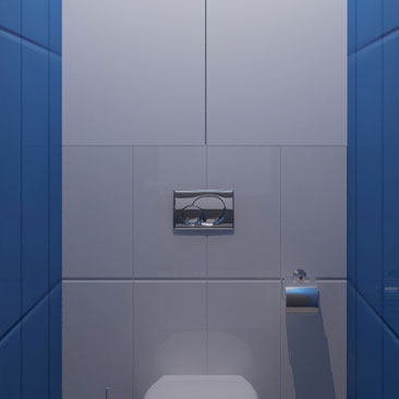 Голубой туалет фото.