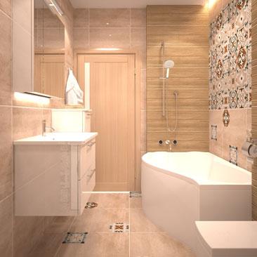 Скандинавский стиль в интерьере ванной комнаты - фото.