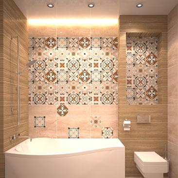 Дизайн интерьера ванной в скандинавском стиле - фото.
