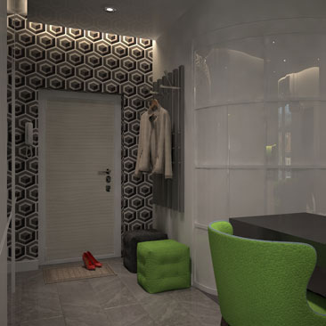 Освещение в прихожей: пример подсветки в коридоре квартиры.