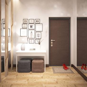 Дизайн холла - интерьер прихожей в квартире.
