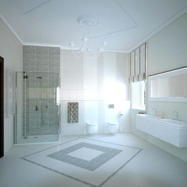 Дизайн интерьера ванной в Воронеже, в Москве.