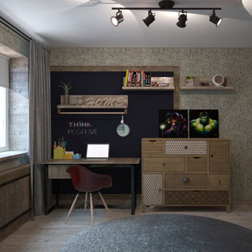 Дизайн интерьера детской комнаты в Воронеже, в Москве.