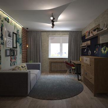 Дизайн-проект интерьера детской комнаты заказать в Москве или Воронеже.