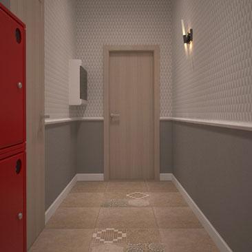 Проект коридора офис фото