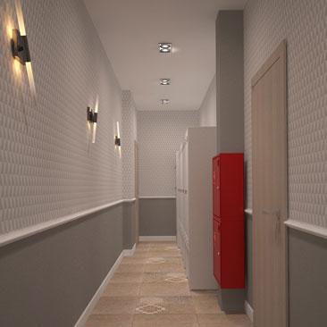 Дизайн коридоров в офисе - фото.