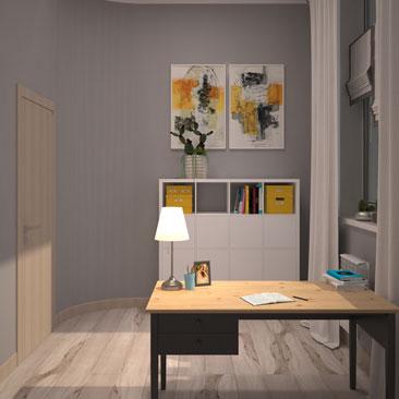 Дизайн интерьера кабинета руководителя женщины - фото, проект.