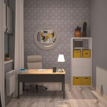 Оформление дизайна кабинета женщины-руководителя.