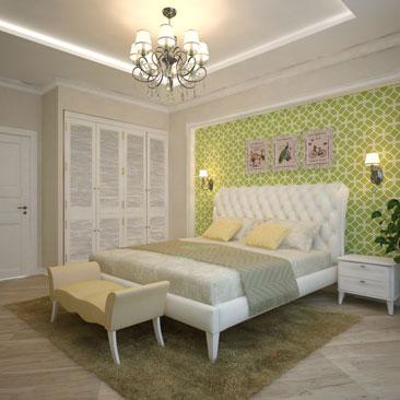Дизайн спальни - хорошие идеи (3д проекты).