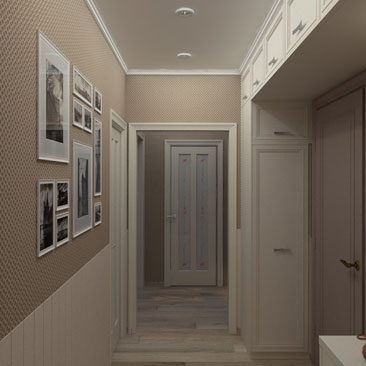 Холл. Квартира. Проект. Система хранения.