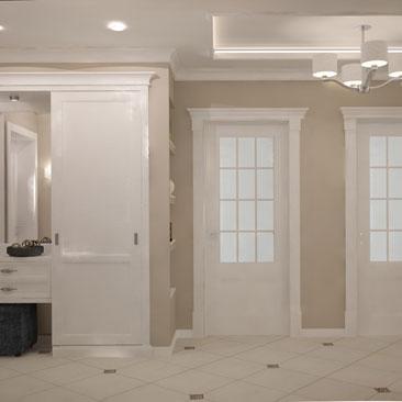Дизайн коридора в квартире под Классику.