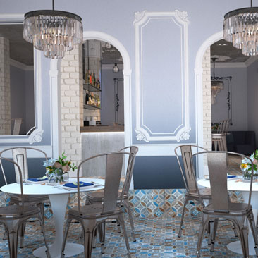 Интерьеры кафе - модные и продуманные стили, портфолио дизайнеров.