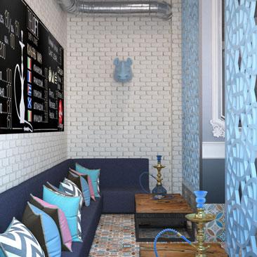 Дизайн кафе в модных стилях - портфолио.