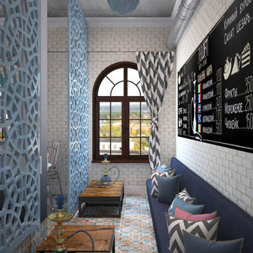 Проект кафетерия - фото, интерьер, дизайн.