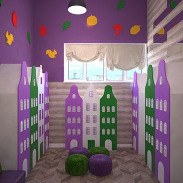 Детский развлекательный центр - дизайн-проекты в Москве и Воронеже.