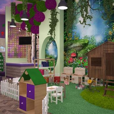 Детские развлекательные центры в Москве: дизайн, проектирование интерьеров.