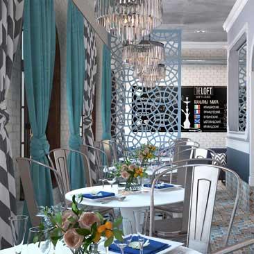 Заказать дизайн-проект интерьера ресторана, кафе в Воронеже.