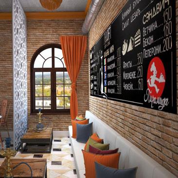 Интерьер ресторанов, баров и кафе. Дизайн-студия Москва.