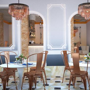Разработка дизайна кафе Москва