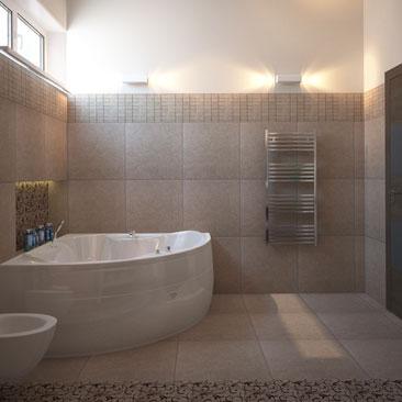Дизайн интерьера ванной комнаты - 3д.