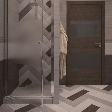 Ванная в квартире - интерьер, проект.
